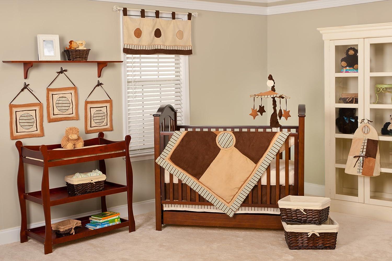 Pam Grace Creations 10 Piece Crib Set Nursery To Go, Cappuccino