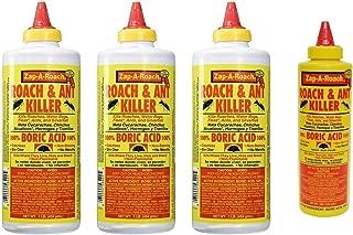 Boric Acid Roach & Ant Killer - Pest Control 1 LB Bottle (454 Grams) - 3 Pack + Bonus Bottle