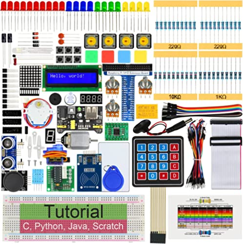 Freenove RFID Starter Kit for Raspberry Pi 4 B 3 B+ 400, 544-Page Detailed Tutorials, Python C Java Scratch Code, 204...