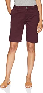 "Amazon Essentials Women's 10"" Inseam Solid Bermuda Short"