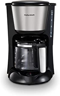 Morphy Richards 162501 Equip Filter Coffe Machine Pour Over Technology for Fuller Flavour, Glass, 1000 W, 1.2 liters, Silver