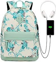 Myhozee Rucksack Damen, Canvas Rucksack Schule Uni Schulrucksack Mädchen Teenager Frauen Drucken Daypack mit Laptopfach fü...