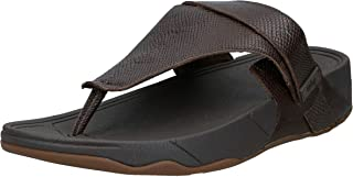 FITFLOP Ethan Croc Print Toe-Thongs, Men's Thong Sandals, Brown (Chocolate Brown)