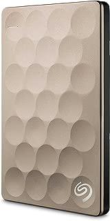 Seagate Backup Plus Ultra Slim 1TB Portable External Hard Drive, USB 3.0 Gold + 2mo Adobe CC Photography (STEH1000101)