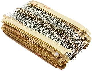 Wimas 97Values 2425PCS 1Ohm-1M Ohm 1/8W Metal Film Resistor Assortment Kit (97value 2425pcs)