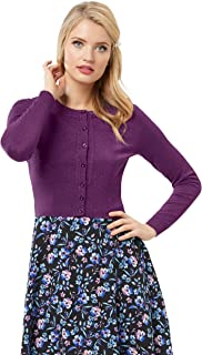 Review Women's Chessie Shimmer Long Sleeve Cardi BlackBerry Shimmer