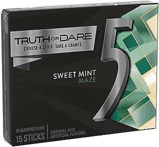 5 Gum Sweet Mint Sugarfree Gum, 15 Piece (10 Packs)