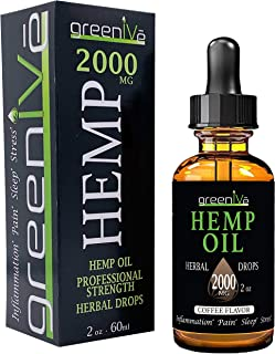 GreenIVe - Hemp Oil - Best Quality Hemp Plant Oil - USA farmed and Bottled - Exclusively on Amazon (2 Ounce 2,000mg, Coffee)