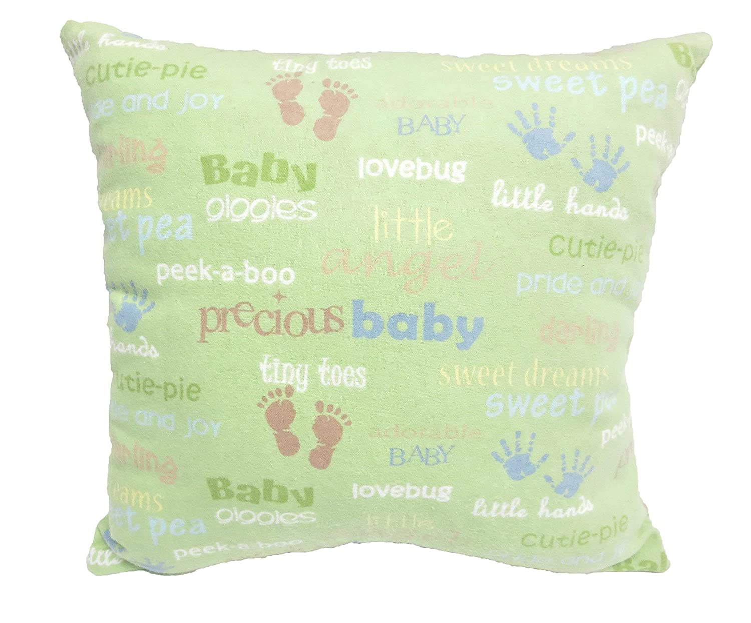 New 5 ☆ very popular Baby Pillow - FREE Excellence SHIPPING Handmade Green Flannel