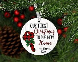 Christmas Xmas Decor 2020 Ornament Personalized Our First Xmas in Our New Home Ornament 2020, First Home Ornament Custom, ...