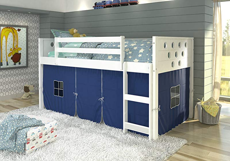 DONCO KIDS 780ATW 750C TB Circles Low Loft Bed Twin White