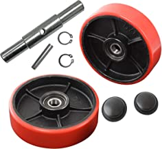 Pallet Jack/Truck Steering Wheels Set with Axle and Protective Caps (4 pcs) 7