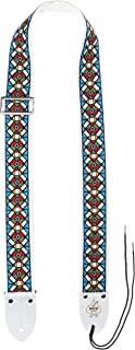 D'Andrea Ace Vintage Reissue Guitar Strap – Stained Glass – Replica of Guitar Strap Used by Jimi Hendrix