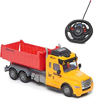 Toy Chef Remote Control Truck RC Toy for Kids Aged 3+, Lights, , Realistic Excavator Truck Design, Full Range of Motion - Battery Operated, Strong and Safe ABS Plastic (Dump Truck)