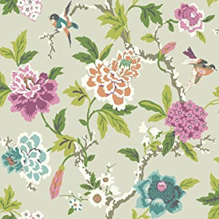 York Wallcoverings Waverly Candid Moment Removable Wallpaper, Greens