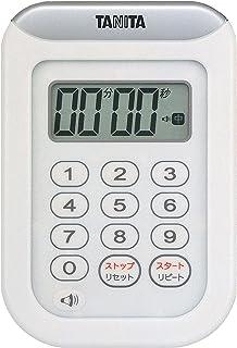 タニタ キッチン タイマー 防水 マグネット付き 100分 ホワイト TD-378 WH
