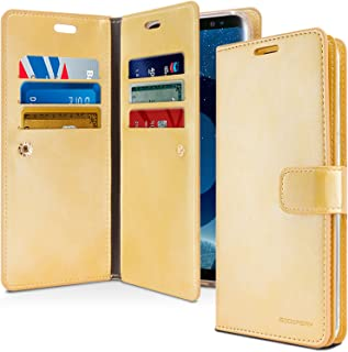 Goospery Mansoor Wallet for Samsung Galaxy S9 Plus Case (2018) Double Sided Card Holder Flip Cover (Gold) S9P-Man-GLD