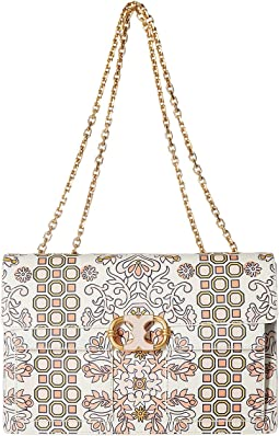 Tory Burch Gemini Link Large Printed Chain Shoulder Bag