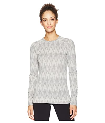 Smartwool NTS Mid 250 Pattern Crew Top (Light Gray/Moonbeam Heather) Women