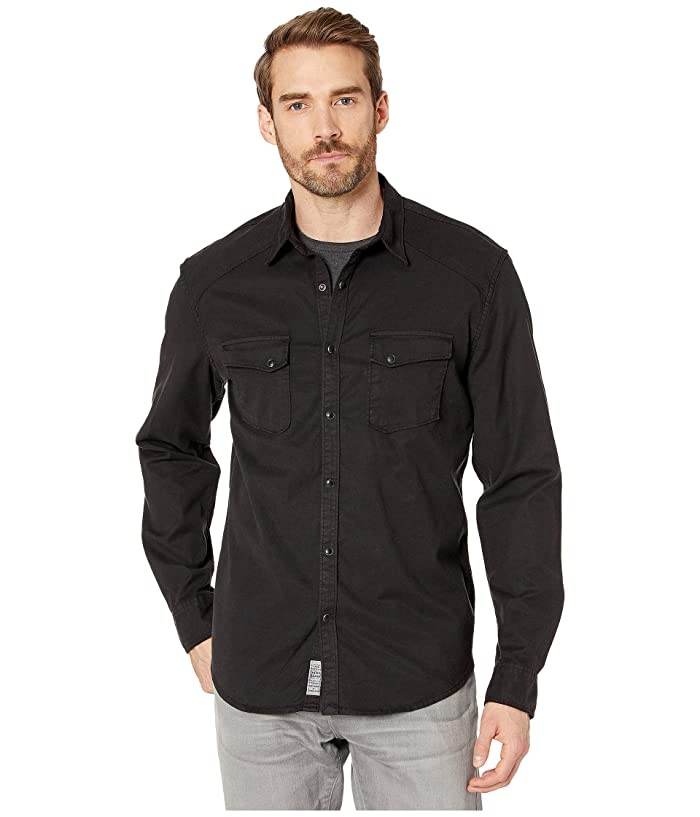 Lucky Brand  Alameda Western Shirt (Washed Black) Mens Clothing