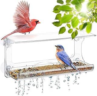UPP Mangeoire pour Oiseaux, Transparente avec ventouses en Acrylique I À Coller sur la fenêtre pour Observer Les Oiseaux d...