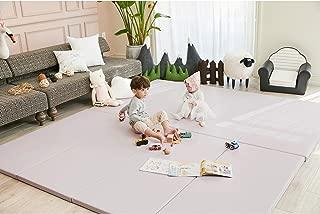 ALZIP MAT Eco Silion Urban, Folding Play Mat Eco-Friendly Non-Toxic Non-Slip Reversible Waterproof (G+ (87x55 inch), Pink)