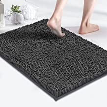 MAYSHINE Bath Mats for Bathroom Rugs Soft, Absorbent, Shaggy Microfiber,Machine-Washable, Perfect for Door Mat (17x24 inch...