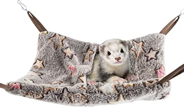 Niteangel Hanging Hammock Nap Sack Swing Bag Pet Sleeper for Ferret Rat Sugar Glider and Other Small Animals