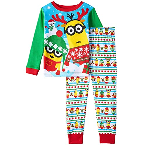 Amazon.com  Despicable Me Toddler Little Boys  Christmas Holiday 2-Piece  Pajama Set  Clothing 44a2006ba