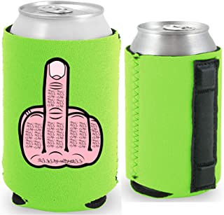 Middle Finger Magnetic Can Coolie (1, Bright Green)