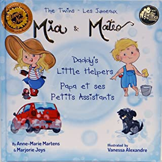 Bilingual Book - The Twins Mia & Mateo Daddy's Little Helpers - Livre Anglais - Francais
