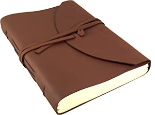 Large Genuine Leather Legacy Journal/Sketchbook with Gift Box - 400 Pages - 9