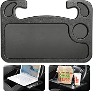 Cutequeen Trading car 1pcs Eating/Laptop Steering Wheel Desk Black(Pack of 1)