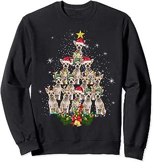 Chihuahua Christmas Tree Dog Xmas Lights Pajamas Xmas Gift Sweatshirt