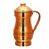 Taluka Copper Jug, 1500 Ml, 4.5 X 10 Inch, Brown