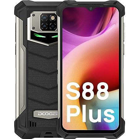 "DOOGEE S88 Plus [2021] Móvil Resistente 10000mAh Batería, 8GB RAM+128GB ROM Moviles Antigolpes, 6.3"" 1080P FHD, Cámara Triples48MP+Cámara Frontal 16MP IP68 Smartphone, 24W Carga Rápida, LED/NFC"