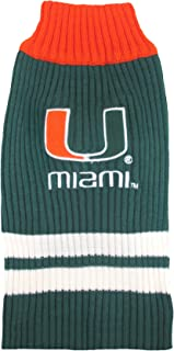 Pets First Collegiate Miami Hurricanes Pet Sweater