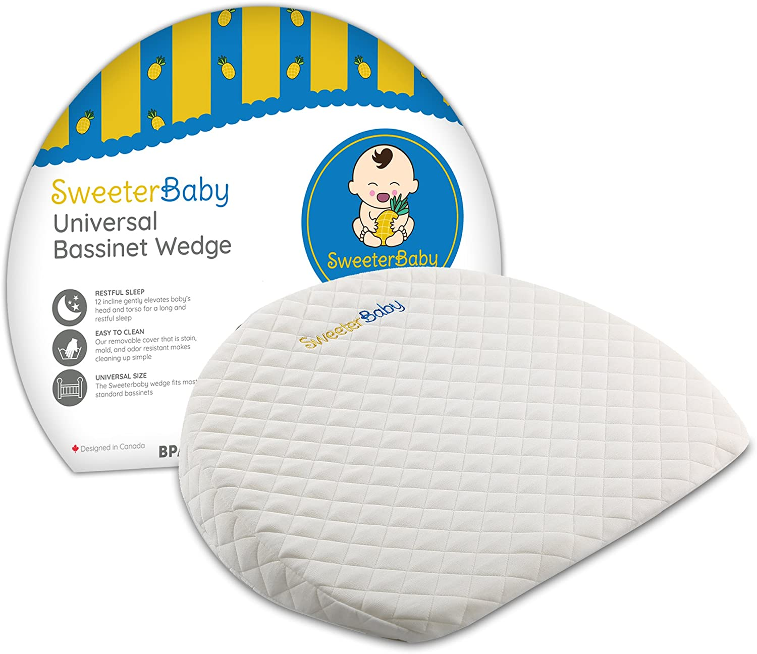 Bassinet Baby Wedge Pillow for Reflux Colic