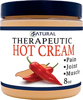 Zatural Organic Hot Cream-Cellulite Cream-Muscle Rub-Slimming Cream-Pain Relief-Body Wraps-Belly Fat-Skin Firming & Weight Loss-Professional Therapeutic Grade-Doctor Formulated 8 Ounce 1