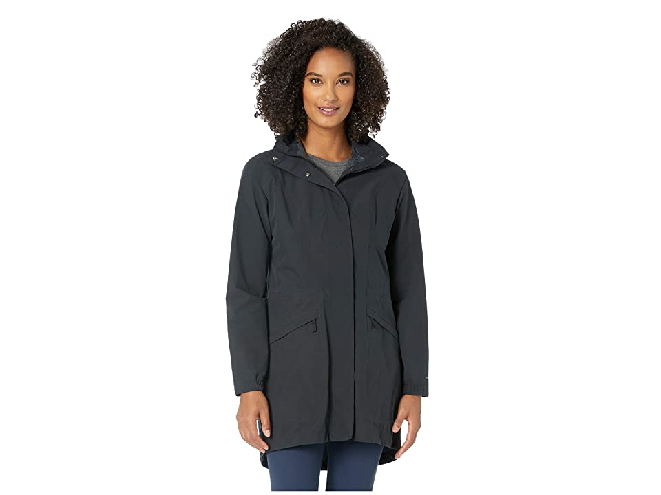 Royal Robbins Oakham Waterproof Trench Coat (Jet Black) Women