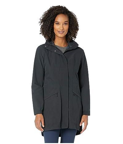 Royal Robbins Oakham Waterproof Trench Coat (Jet Black) Women
