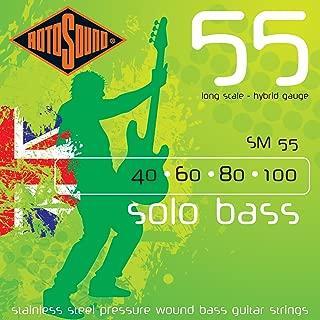 Rotosound SM55 Linea Pressure Wound Bass Guitar Strings (40 60 80 100)