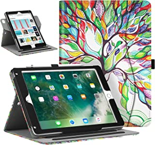 Fintie Case for iPad 9.7 2018/2017, iPad Air 1/2, Portrait and Landscape Viewing Multi-Angle Stand Cover w/Pocket, Pencil Holder, Auto Sleep/Wake for iPad 6th / 5th Gen, iPad Air 1/2, Love Tree