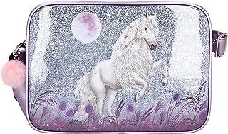 Depesche 10771 Miss Melody - Umhängetasche mit traumhaftem Pferde-Motiv, mit Reißverschluss und längenverstellbarem Trageg...