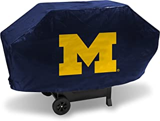 NCAA Michigan Wolverines Vinyl Padded Deluxe Grill Cover