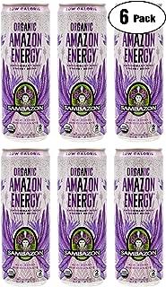 Organic Amazon Energy Drink Sambazon Low-Calorie Acai Berry Pomegranate, 12oz (Pack of 6, Total of 72 Oz)