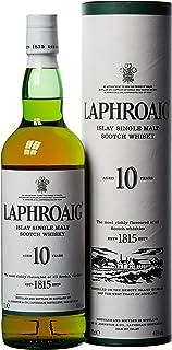 Laphroaig 10 Jahre Islay Single Malt Scotch Whisky mit Geschenkverpackung, einzigartig rauchig-torfiger Geschmack, 40% Vol, 700ml