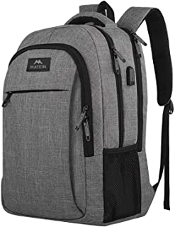 Travel laptop backpack,Business Anti Theft Slim Durable Laptops Backpack with USB charging Port ,Water Resistant College School Computer Bag for Women & Men Fits 15.6 Inch Laptop and Notebook - Grey