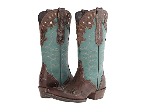 Womens Boots ariat teal green zealous barnwood vo5l85s3