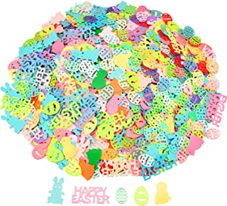Jovitec 5 Bags Easter Confetti Colorful Table Confetti Bunny Chick and Eggs Shape Confetti for Easter Party Decorations DIY Craft, 2.5 Ounce Totally